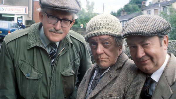 Last of the Summer Wine S6: (L to R) Foggy (BRIAN WILDE), Compo (BILL OWEN), Clegg (PETER SALLIS) © BBC 1981