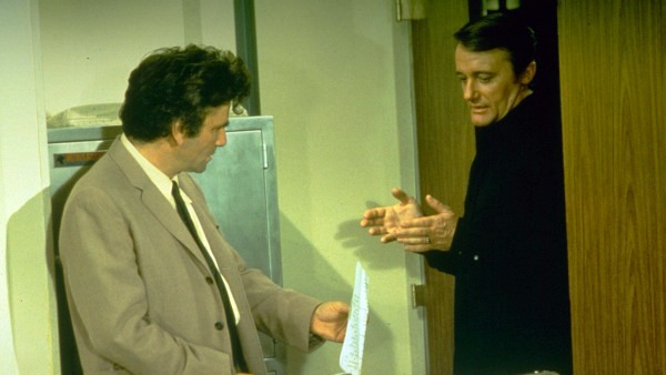 Peter Falk and Robert Vaughan star in Columbo: Troubled Waters