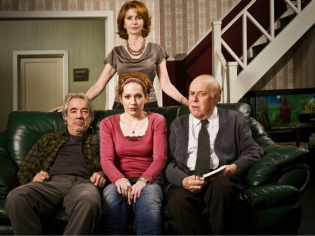 The Old Guys: Roger Lloyd Pack as Tom, Katherine Parkinson as Amber, Jane Asher as Sally and Clive Swift as Roy