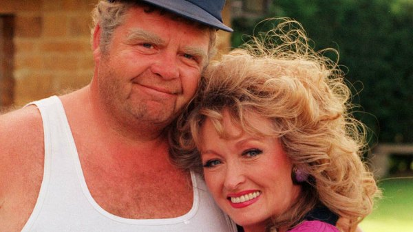 "Geoffrey Hughes (Onslow) and Mary Millar (Rose) star in ""Keeping Up Appearances"" - photo by PA Wire/PA Photos/KEYSTONE Press"