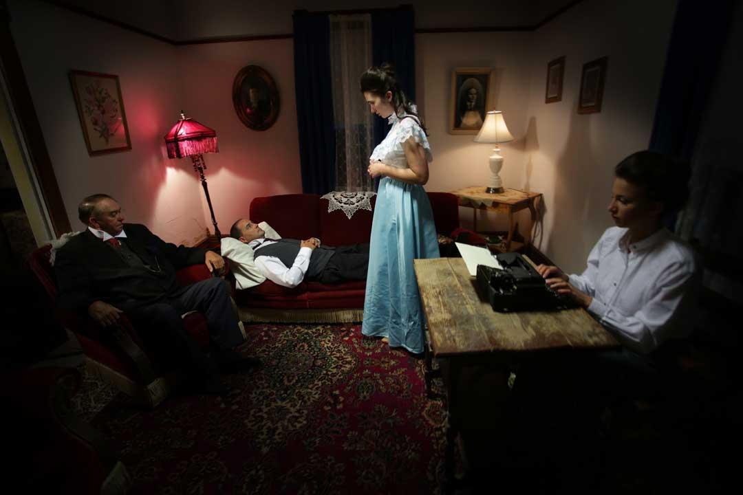 IP: Edgar Cayce - Edgar Cayce, in trance, solves one of several crimes. Photo: Steven J. Allen