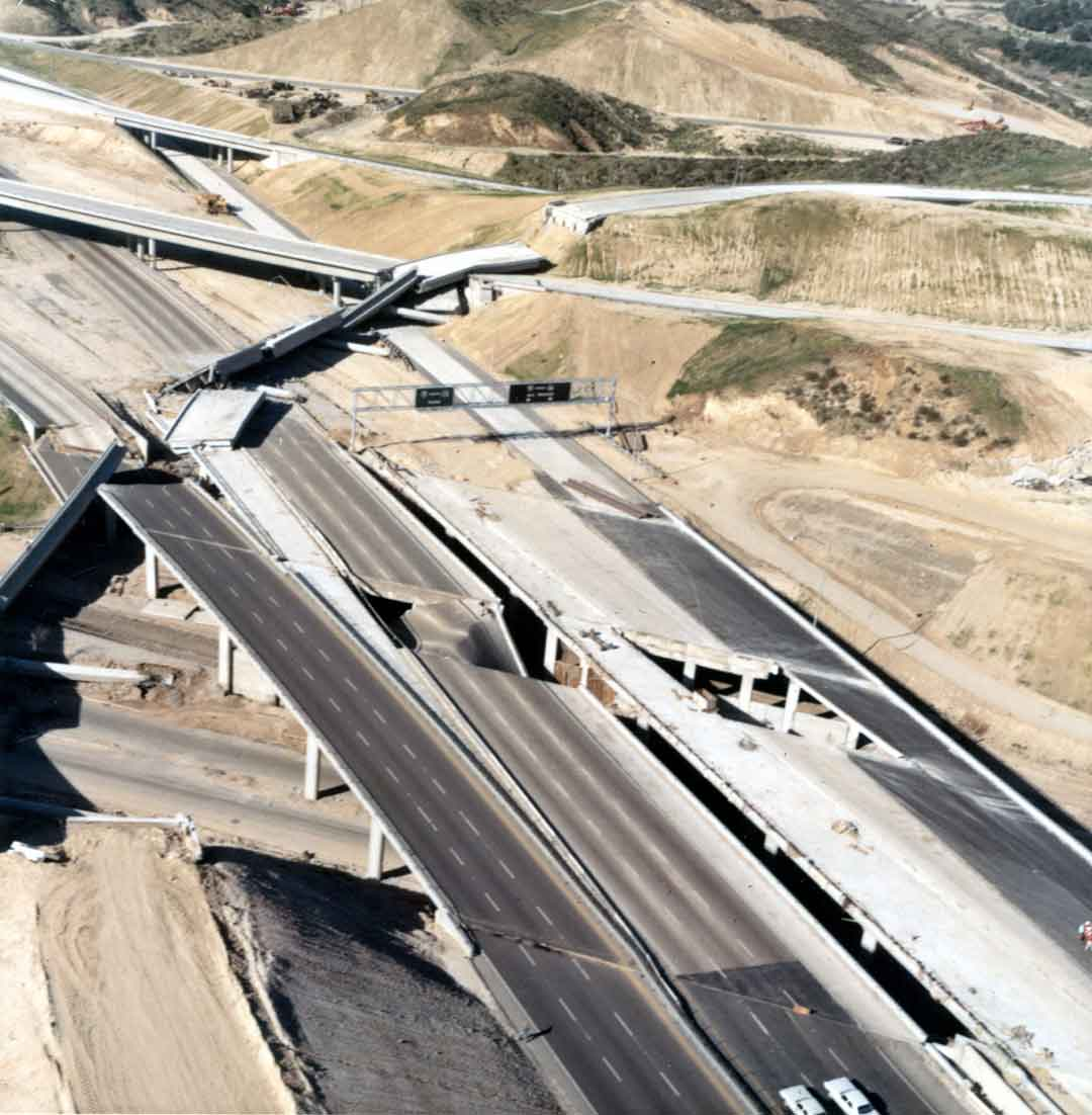 IP: Nostradamus - •San Fernando, California Earthquake, February 1971. Collapsed highway overpass. Photo: R. Kachadoorian, courtesy of the U.S. Geological Survey