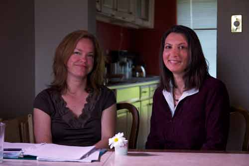 SI: Coincidence: Investigator Donna Gabriel with Spiritual Advisor Selina Khan Photo: Robert W. Zimmerman