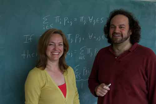SI: Coincidence - Investigator Donna Gabriel with Statistician Jeffrey Rosenthal Photo: Robert W. Zimmerman