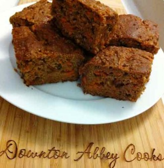 The Weekly Downton Dish: Guilt Free Carrot Cake - by Pamela Foster, DowntonAbbeyCooks.com