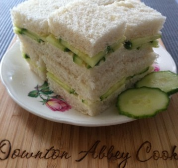 The Weekly Downton Dish: Cucumber Tea Sandwiches by Pamela Foster, DowntonAbbeyCooks.com