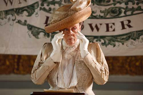 Downton Abbey S1E5: The Dowager Countess prepares to announce the winners of the Downton Flower Show