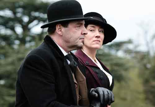 Downton Abbey S2E1: Bates and his estranged wife Vera