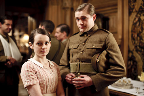 Downton Abbey S2E3: Daisy and William after he asks her to be his girl