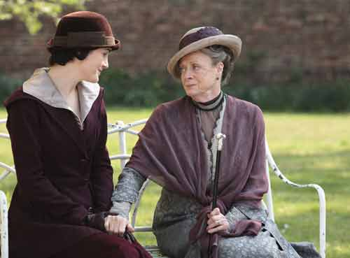 Downton Abbey S2E3: Lady Violet questions Lady Mary about whether Lady Sybil is interested in a man