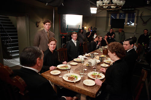 DAS3E1 BTS: Filming a meal scene at the servants' table