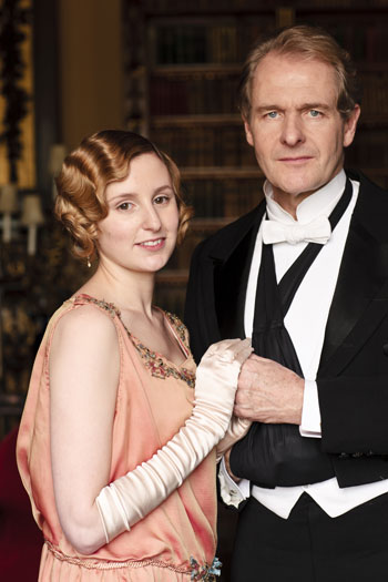 DAS3 Cast: Laura Carmichael as Lady Edith Crawley and Robert Bathurst as Sir Anthony Strallan