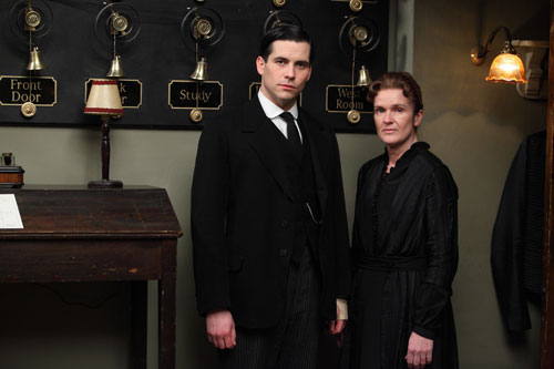DAS3 Cast: Rob James-Collier as Thomas Barrow and Siobhann Finneran as Sarah O'Brien