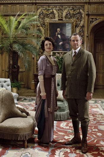 DAS1 CAST: Elizabeth McGovern and Hugh Bonneville as Cora and Robert Crawley