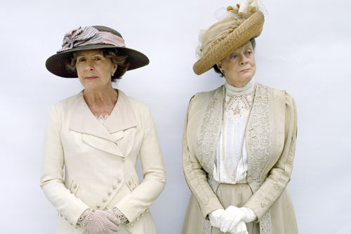 DAS1 CAST: Penelope Wilton as Isobel Crawley and Maggie Smith as Violet Crawley, the Dowager Countess of Grantham