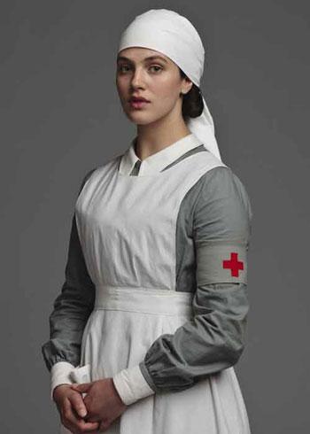 DAS2 CAST: Jessica Brown Findlay as Lady Sybil Crawley, nurse