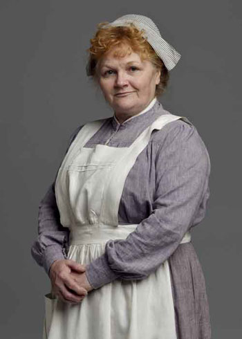 DAS2 CAST: Lesley Nicol as Mrs. Patmore, Cook