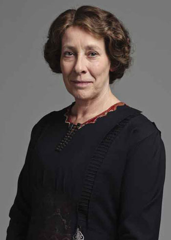 DAS2 CAST: Phyllis Logan as Mrs. Hughes, Housekeeper