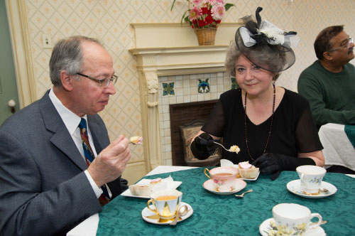 Spadina Museum: Contest Winners dressed in Downton finery have tea Photo: Courtesy City of Toronto