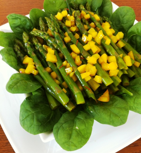 The Weekly Downton Dish: Asparagus Salad by Pamela Foster, DowntonAbbeyCooks.com