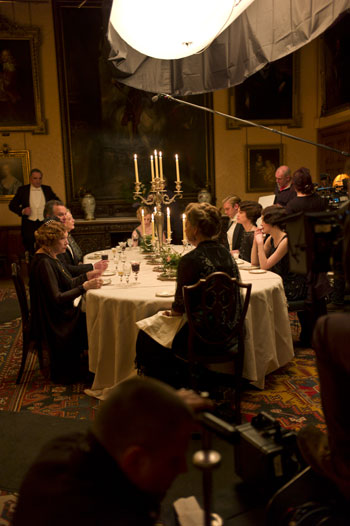 DAS3E1: BTS - Shooting a dinner sequence with Shirley and large overhead light