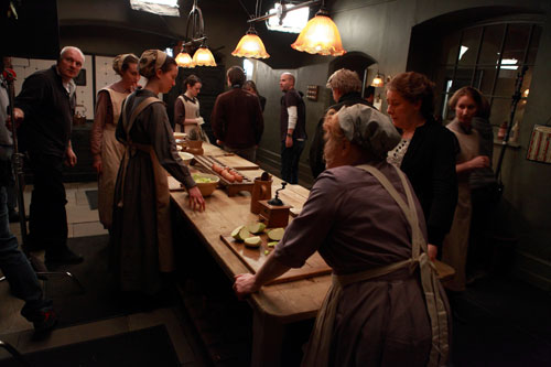 DAS3E1: BTS - Shooting a sequence in Mrs. Patmore's kitchen