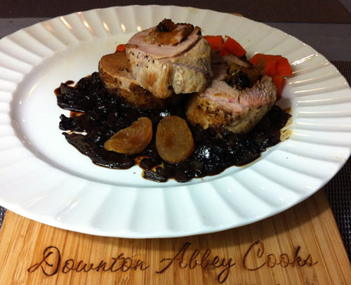 The Weekly Downton Dish: Stuffed Pork Tenderloin by Pamela Foster, DowntonAbbeyCooks.com