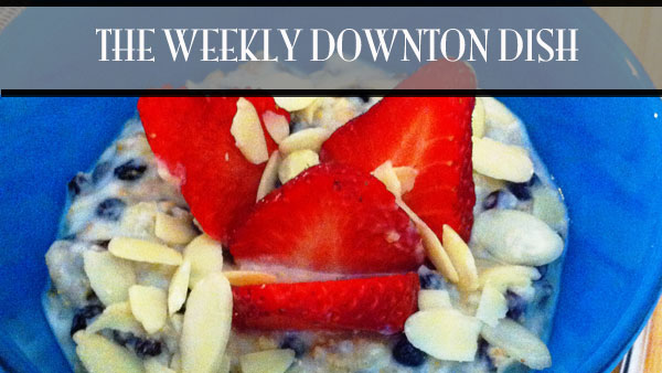 The Weekly Downton Dish: Burnt Offerings - Baked Rice Pudding by Pamela Foster, DowntonAbbeyCooks.com