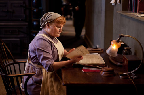 DAS3E4: Mrs. Patmore working at her desk
