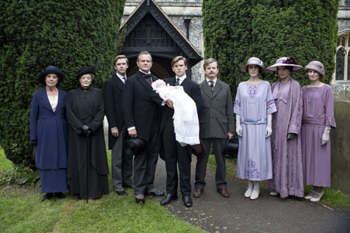 DAS3E6: The family at baby Sybil's christening