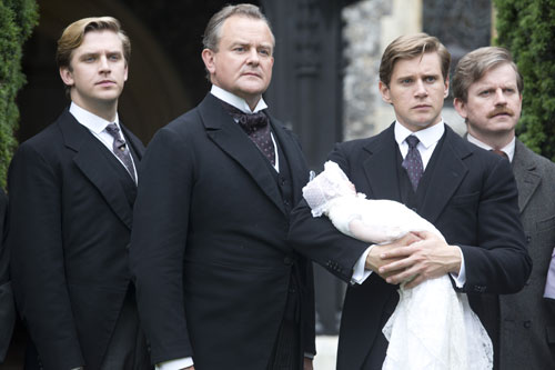 DAS3E6: Matthew, Robert, Tom and Kieran at baby Sybil's christening