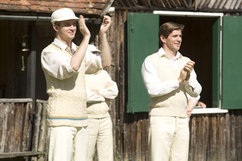 DAS3E6: Downton Cricket Match - Matthew and Tom cheer