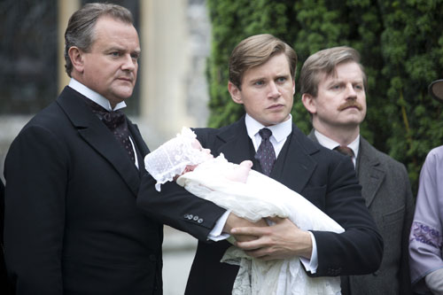 DAS3E6: Robert, Tom and Kieran at baby Sybil's christening