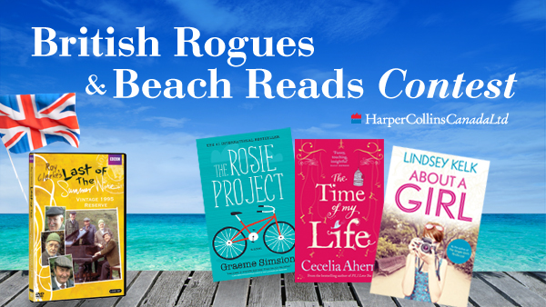 VisionTV British Rogues and Beach Reads Contest - HarperCollins Canada - July 2013