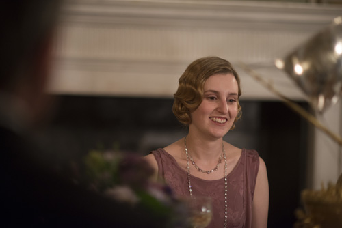 DAS3E7: Lady Edith at dinner at Duneagle