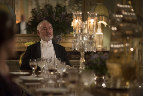 "DAS3E7: Cousin Hugh ""Shrimpy"" MacClare at dinner"