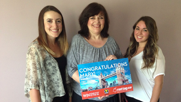 Win Your Way to the UK Contest GPWinner and RedTag.ca Vacations Rep