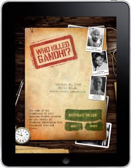 Who Killed Gandhi iPad App Home Screen
