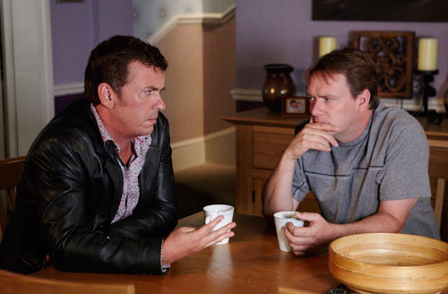 EastEnders Weekender (Oct. 28 - Nov. 1, 2013) Alfie Moon (SHANE RICHIE), & Ian Beale (ADAM WOODYATT) Photo: Adam Pensotti © BBC 2011