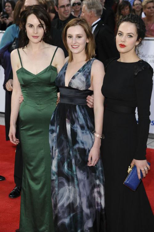 Downton Abbey Catch Up: Michelle Dockery, Laura Carmichael and Jessica Brown Findlay Photo: ©ZUMAPRESS.com/Keystone Press