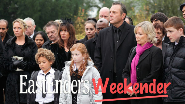 EastEnders Weekender (Jan. 13, -17, 2013) Janine Malloy (CHARLIE BROOKS), Morgan Jackson-King (DEVON HIGGS), Tiffany Dean (MAISIE SMITH), David Wicks (MICHAEL FRENCH), Carol Jackson (LINDSAY COULSON), Liam Butcher (JAMES FORDE) Photo: Adam Pensotti (c) BBC 2011