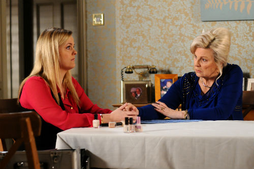 EastEnders Weekender, Feb. 7: Tanya Jessop (JO JOYNER), Cora Cross (ANN MITCHELL) Photo: Kieron McCarron ©BBC 2012