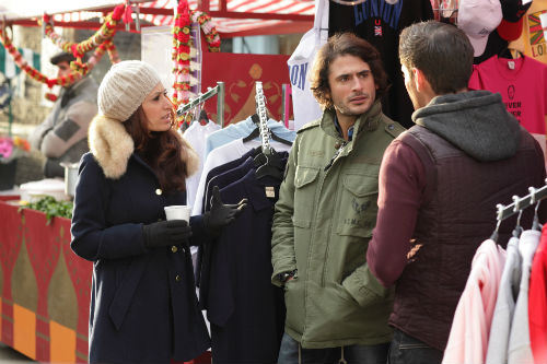 EastEnders Weekender Feb. 14: Amira Masood (PREEYA KALIDAS), Syed Masood (MARC ELLIOTT), Anthony Moon (MATT LAPINSKAS) Photo: Adam Pensotti ©BBC 2012