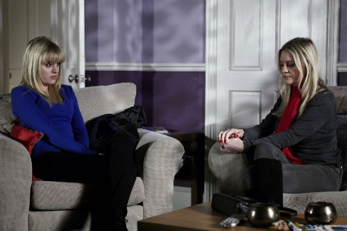 EastEnders Weekender, Feb. 7: Lucy Beale (HETTI BYWATER), Mandy (NICOLA STAPLETON) Photo: Matt Frost ©BBC 2011