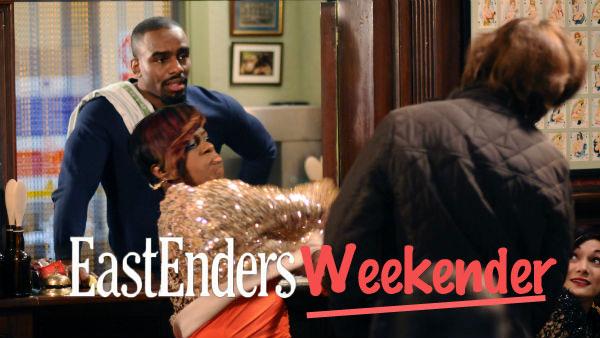 EastEnders Weekender: (Feb. 3 - 7, 2014) Ray Dixon (CHUCKY VENN), Kim Fox (TAMEKA EMPSON), Sinclair Photo: © BBC 2012