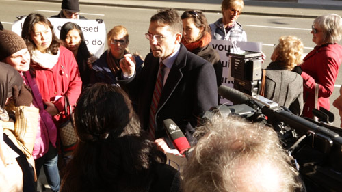 The Trouble With Dying: Dr. Will Johnston, President, Euthanasia Prevention Coalition of BC, speaks to reporters