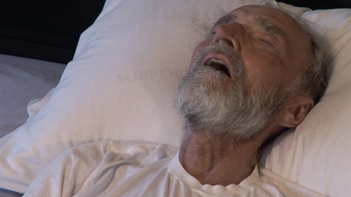 The Trouble With Dying: elderly gentleman in hospital bed