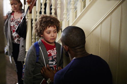 EastEnders Weekender Apr. 18: Carol Jackson (LINDSEY COULSON), Morgan Butcher (Devon Higgs), Ray Dixon (CHUCKY VENN) Photo: Jack Barnes ©BBC 2012