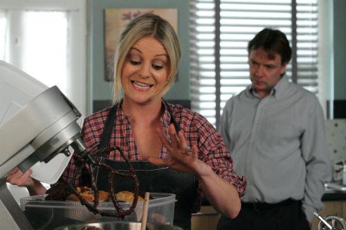 EastEnders Weekender Apr. 4: Mandy Salter (Nicola Stapleton), Ian Beale (ADAM WOODYATT) Photo: Jack Barnes ©BBC 2012