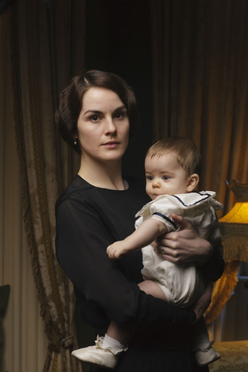 Downton Abbey Cast S4: Lady Mary Crawley (MICHELLE DOCKERY), George Crawley